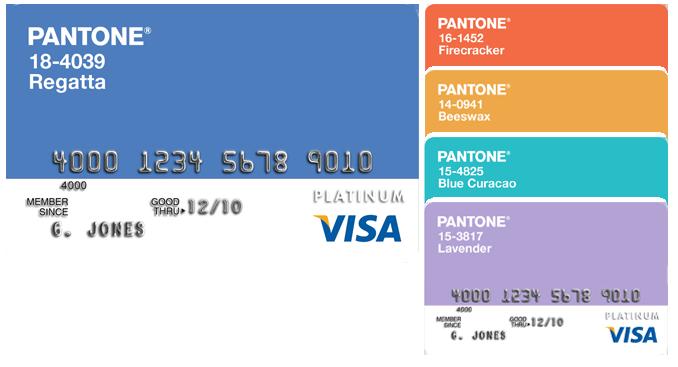 Visa Card Pantone