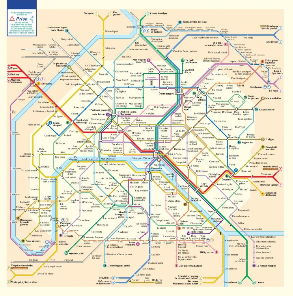 Stations de métro en anagrammes