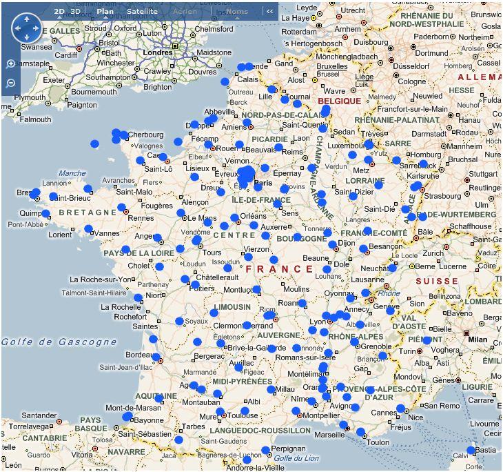 Suivi radioactivité en France