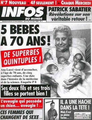 5 bébés à 70 ans 'infos du monde'