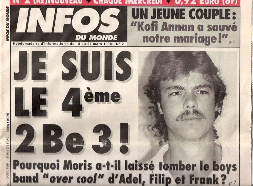 """Je suis le 4eme des 2b3 """"infos du monde"""""""