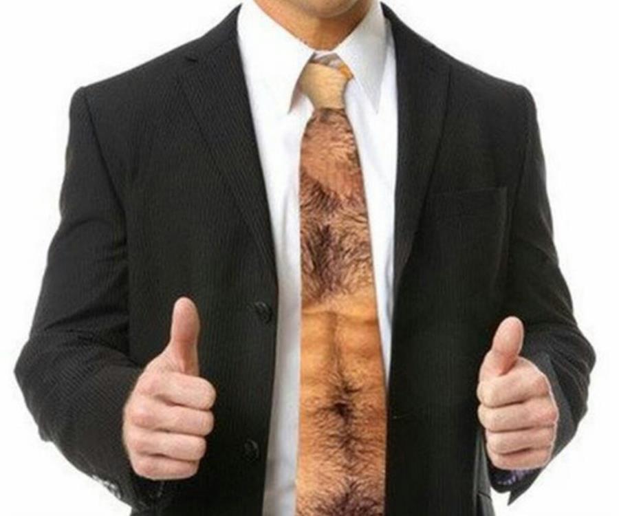 cravatte torse avec poil