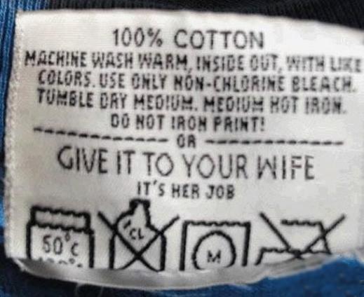 etiquette de lavage fun