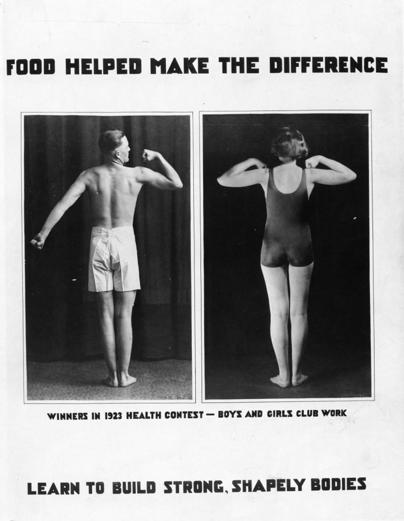 Aliments ont contribué à faire la différence. Vainqueurs en 1923 Concours de santé, les garçons et les filles travaux du club. Apprenez à construire un corps fort, bien fait
