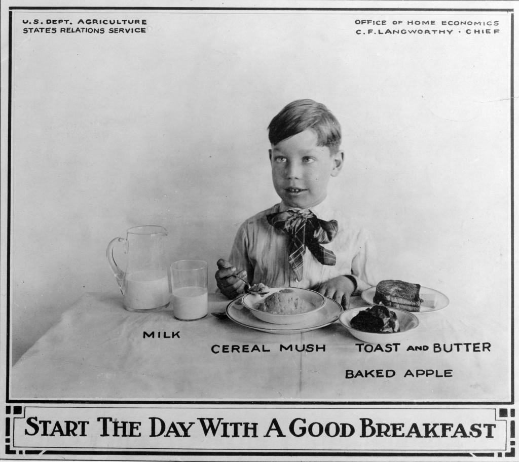 Annonce promotionnelle pour aliments du petit déjeuner
