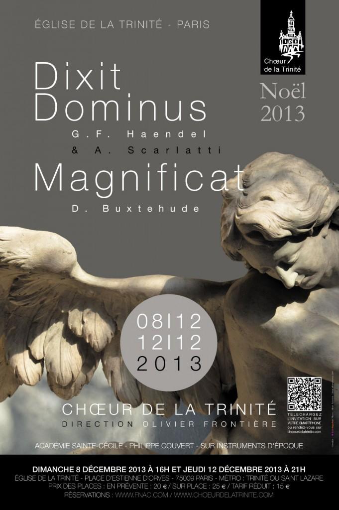 Eglise de la Trinité Concert Dixit Dominus et Magnificat