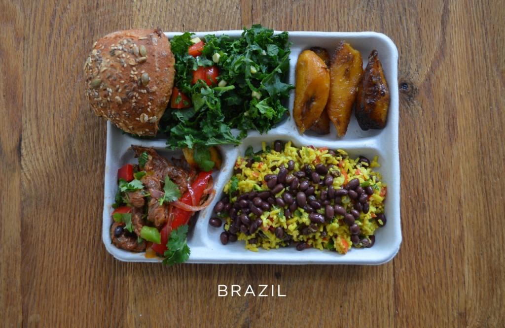 Brésil plateau repas école  Brésil