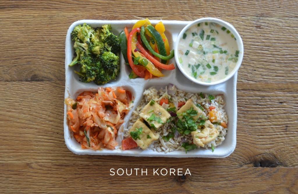 Corée du Sud plateau repas école