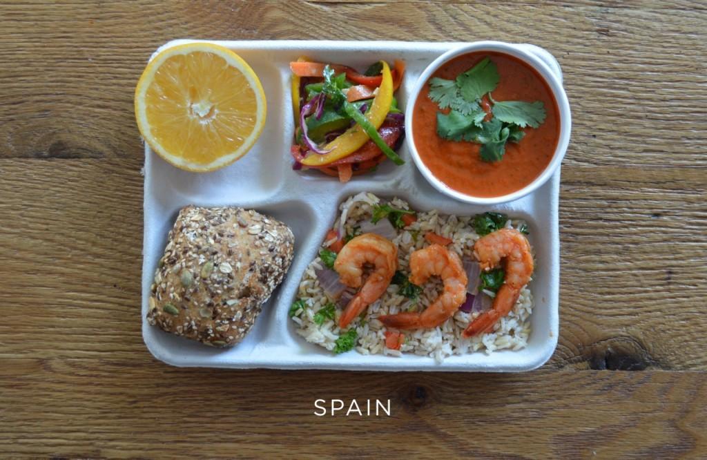 Espagne plateau repas école