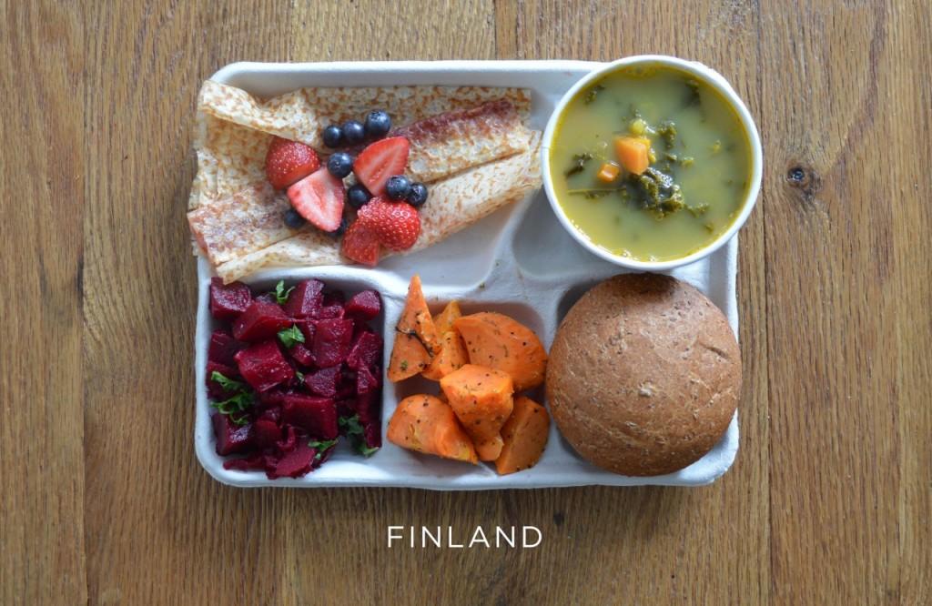 Finlande plateau repas école