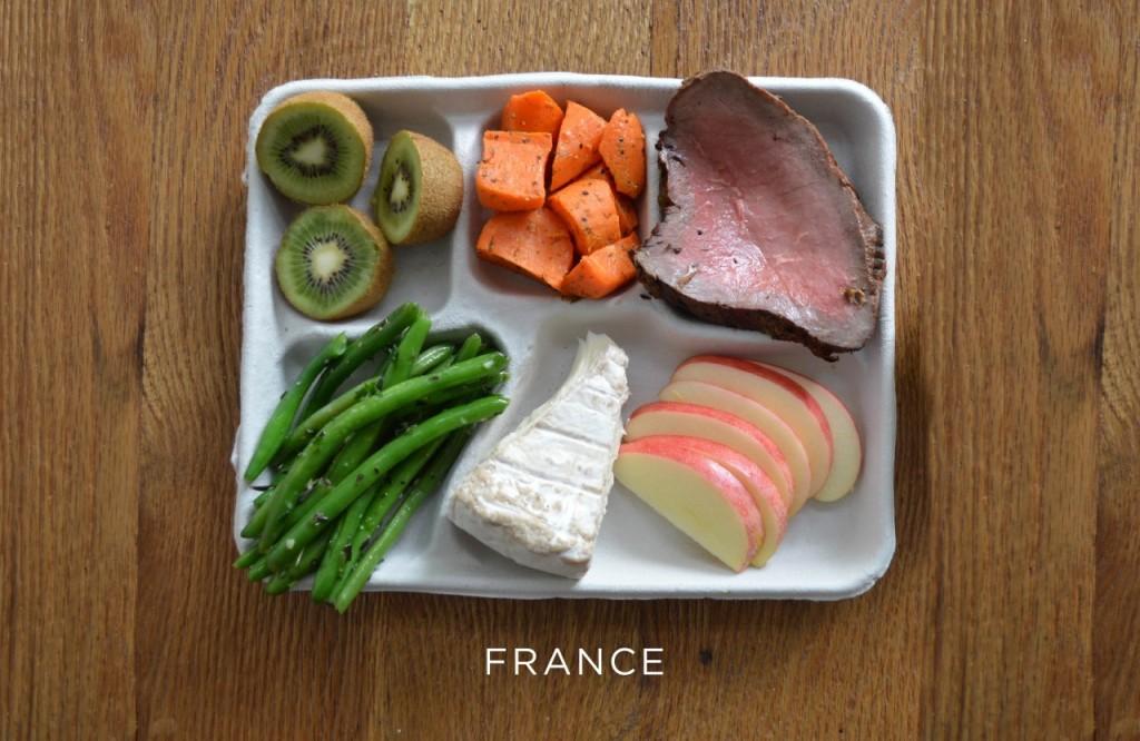 France plateau repas école