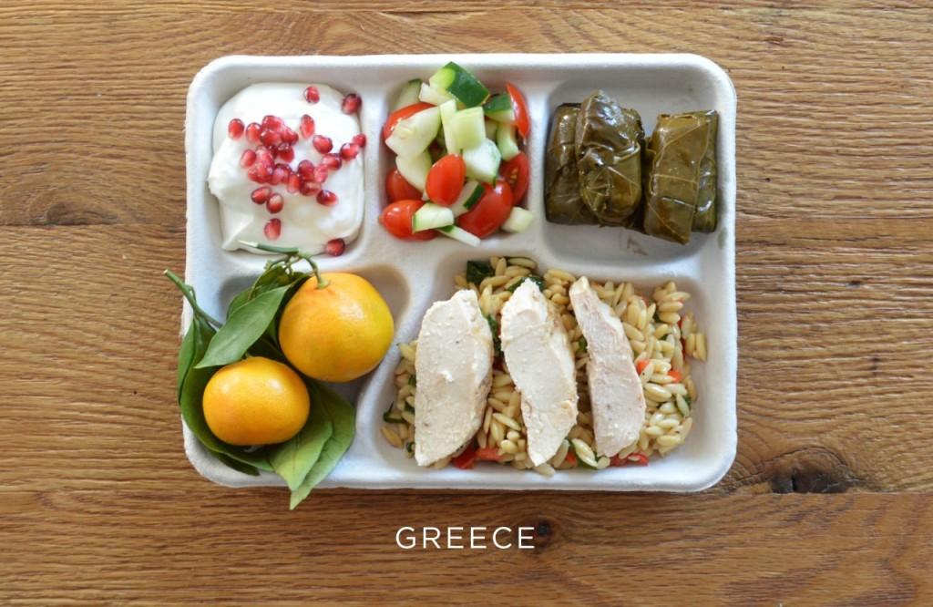 Grece plateau repas école