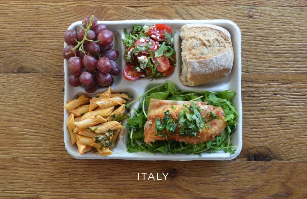 Italie plateau repas école