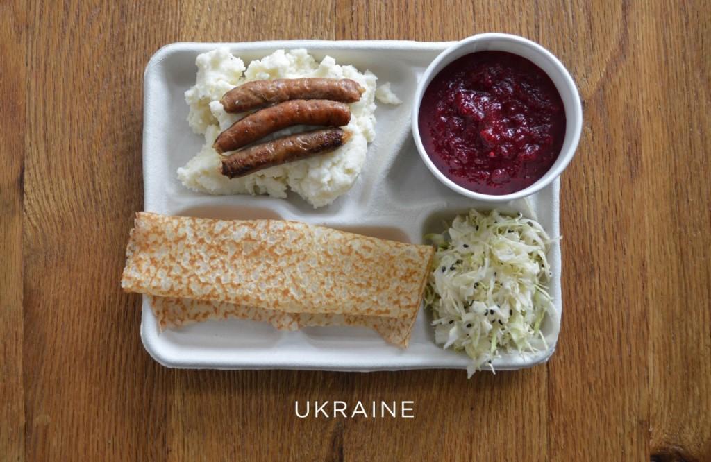 Ukraine plateau repas école